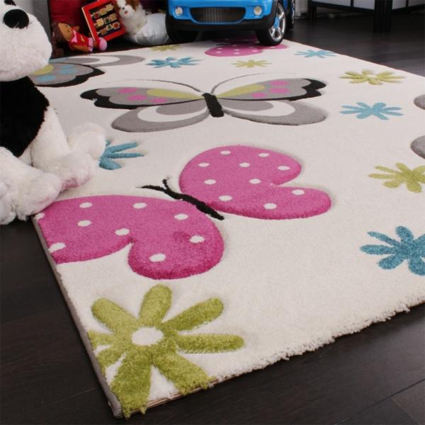 Kinderteppich schmetterling  Teppich mit Schmetterling - Motiven - 38 Modelle! - Archzine.net