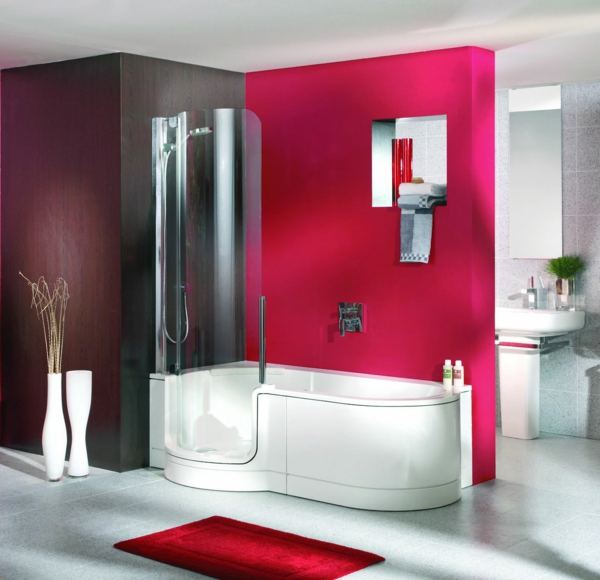 badewanne mit duschzone tolle beispiele. Black Bedroom Furniture Sets. Home Design Ideas