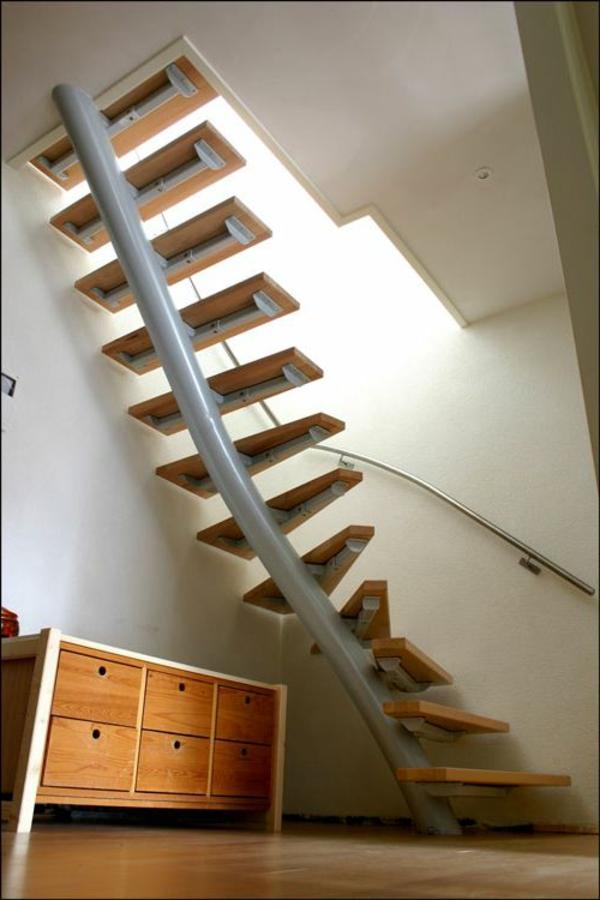 kleine-Treppen-für-die-Wohnung-Designidee-Platzsparende Treppen