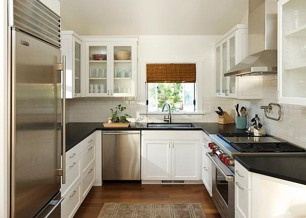 Kleine k che einrichten neue beispiele for Small u shaped galley kitchen designs