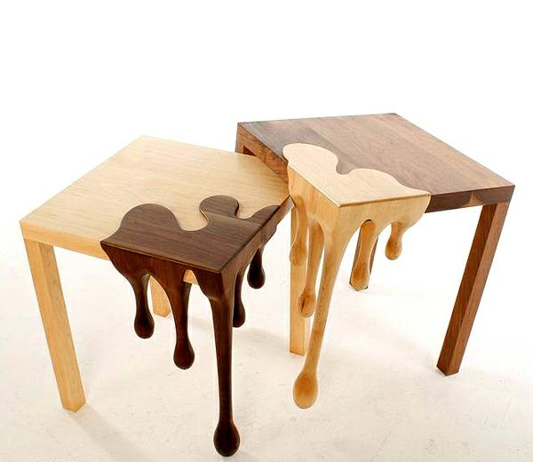 25 originelle holztische. Black Bedroom Furniture Sets. Home Design Ideas