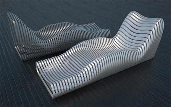 Möbel design metall  Lounge Terrassenmöbel zur vollen Entspannung - Archzine.net
