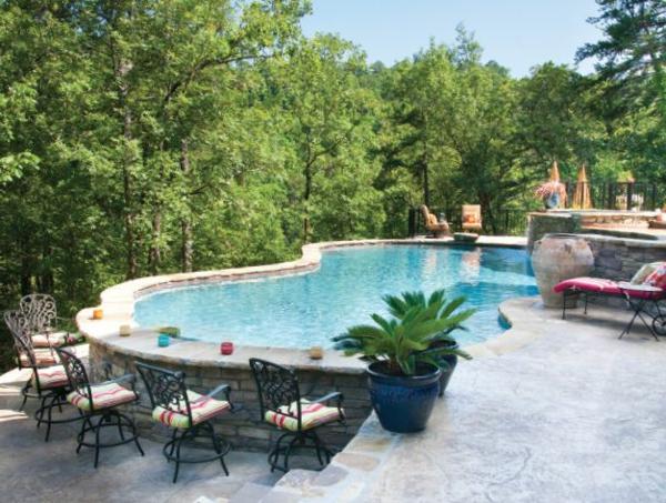 Garten pool teilversenkt for Garten pool holzoptik