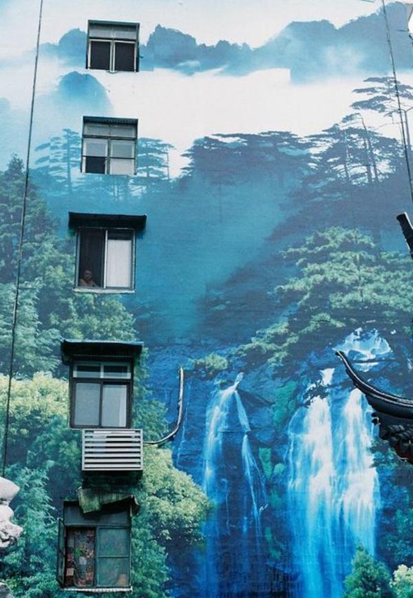 kreative-street-art-wandbild-Naturbild-dschungel