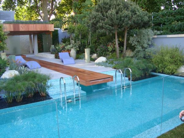 effektvolle poolgestaltung im garten - archzine, Gartenarbeit ideen