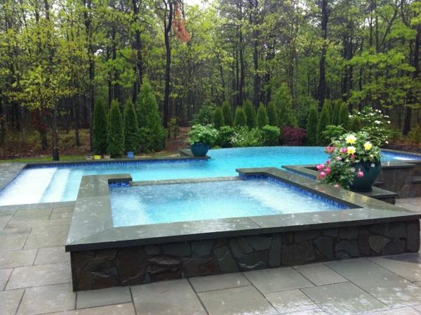 Effektvolle Poolgestaltung Im Garten - Archzine.net Garten Mit Pool Gestaltung Tipps