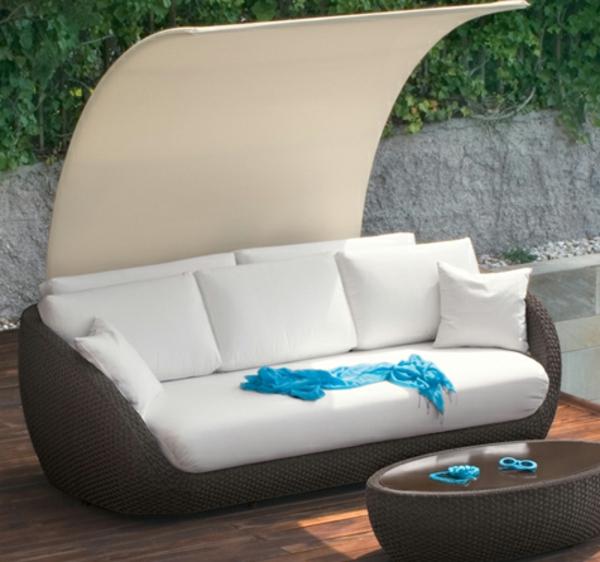 Attraktive Loungemöbel aus Rattan - Archzine.net