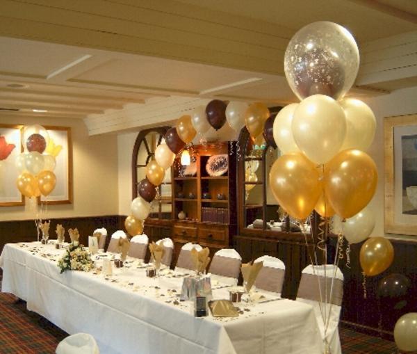 moderne-ballon-deko- goldene farbe