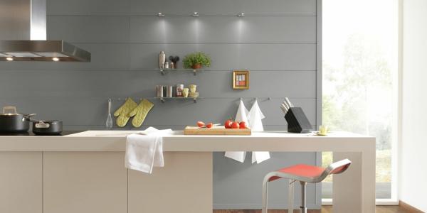 moderne-küche-gestalten- graue wandpaneele