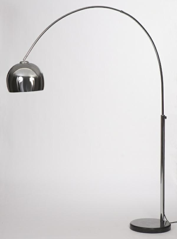 moderne-retro-stehlampe - grauer hintergrund