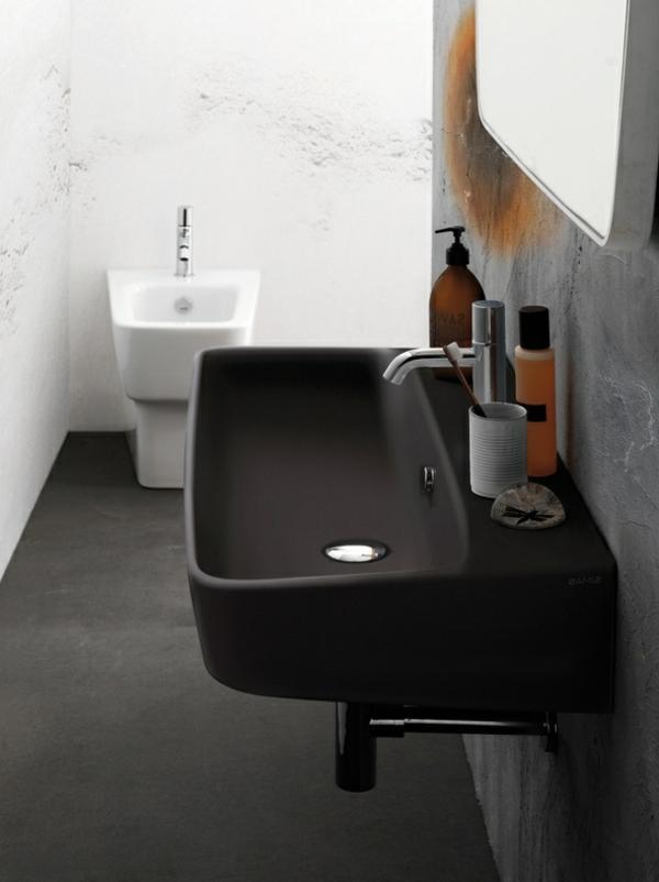 schwarzes waschbecken inspiration f r die. Black Bedroom Furniture Sets. Home Design Ideas