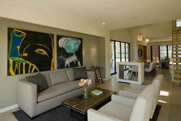 Modernes Wohnzimmer Wohnung Dekorieren
