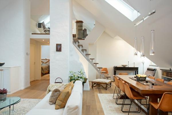 Nordische mode bei der einrichtung 50 fotos for Dachwohnung einrichten