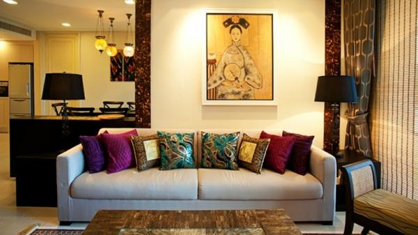 orientalische-dekoration-für-wohnzimmer-bild-an-der-wand