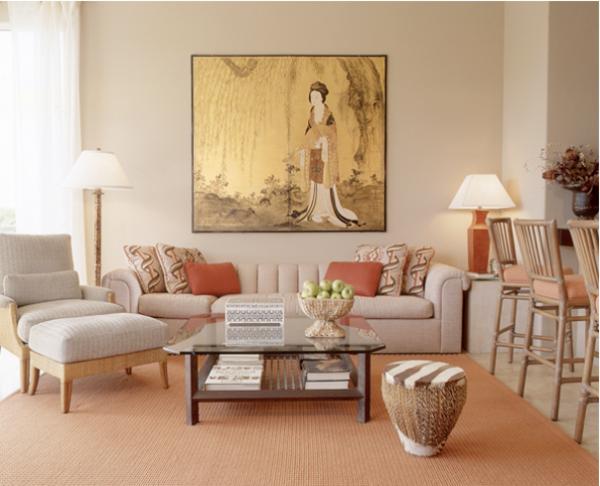 Elegant Orientalische Dekoration Für Wohnzimmer Helle Farben