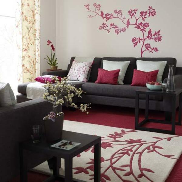 orientalische-dekoration-für-wohnzimmer-interessante-wandgestaltung