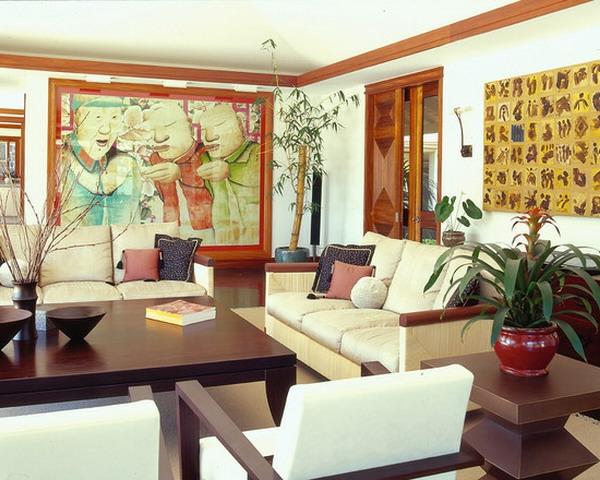 orientalische-dekoration-für-wohnzimmer-weiße-möbel