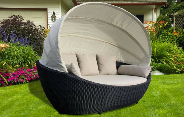 effektvolle polyrattan loungem bel. Black Bedroom Furniture Sets. Home Design Ideas