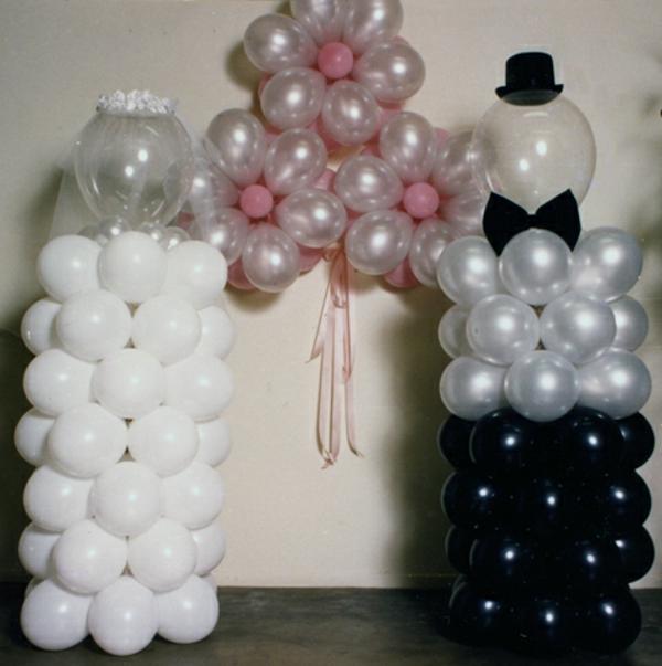 originelle-moderne-ballon-deko - interessante idee