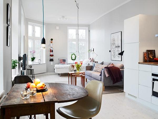 wohnzimmer und esszimmer in einem kleinen raum: kleine räume, Wohnideen design