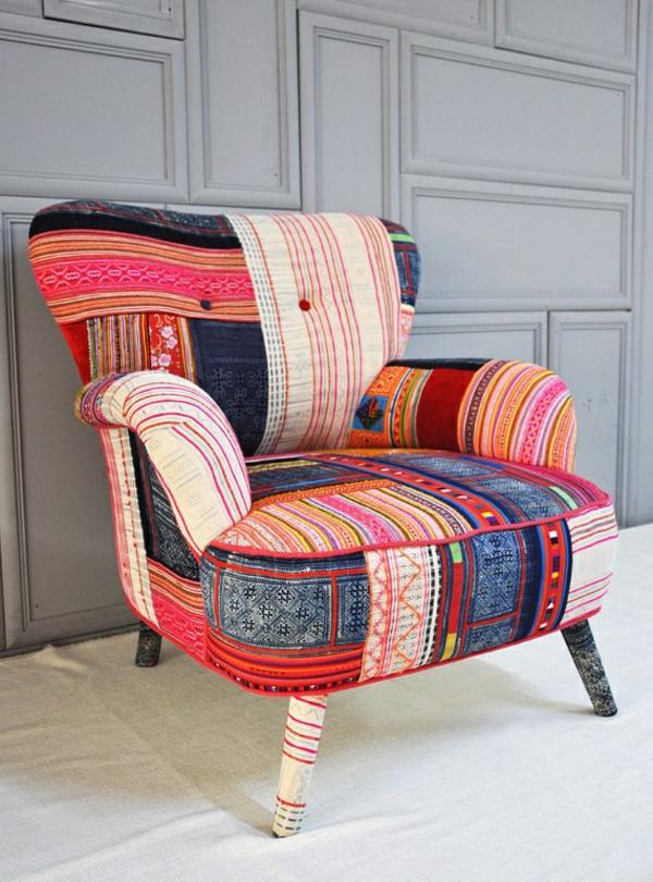 super-originelles-design-Sessel-Patchwork