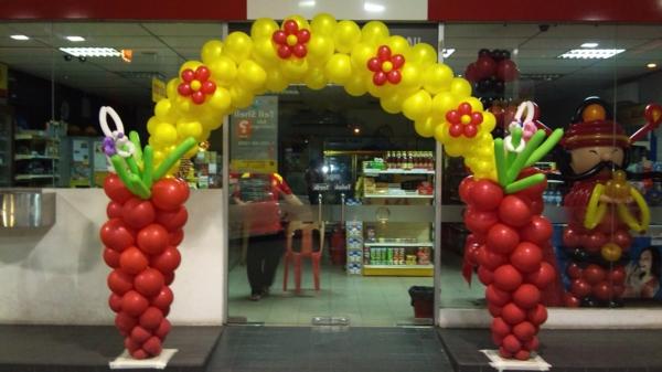partydeko-mit-ballons- interessante idee