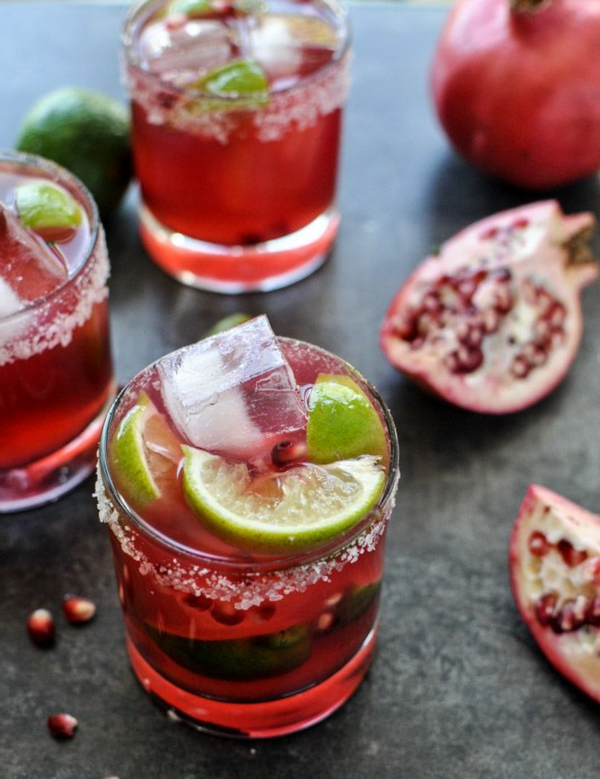 pomegranete margaritas-lime