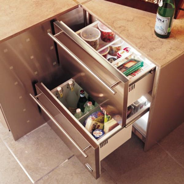 kompakte-Kühlschränke-mit-Schubladen-Küche