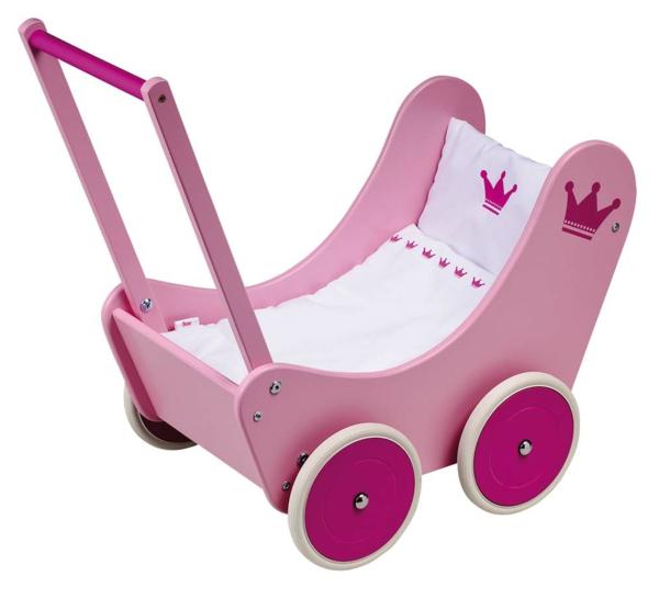 puppenwagen-korb-in-pink- weißer hintergrund