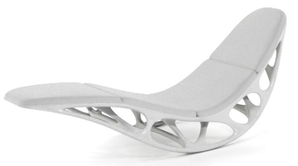relax-liegestuhl-weiße-farbe - modernes design