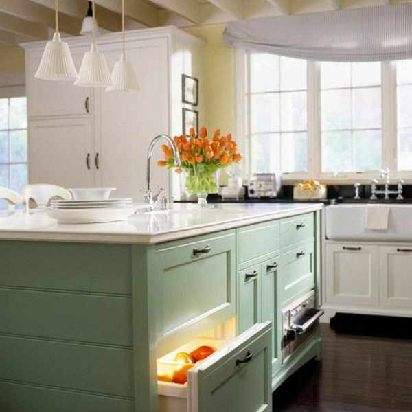 Retro-Schubladen-Kühlschrank-für-die-Küche-Vintage