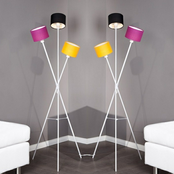 Retro stehlampe 30 coole designs for Bunte stehlampen