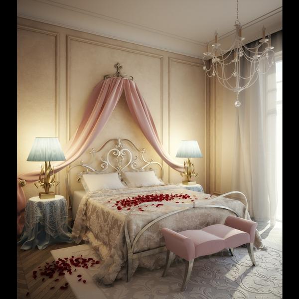 romantik-merkmale-im-weißen-schlafzimmer