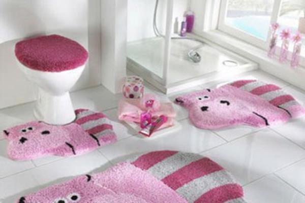 Rosa Teppich Für Das Badezimmer Flusspferd