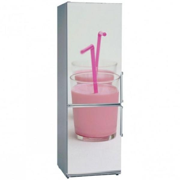 Erdbeere-milchschake-Aufkleber-für-den-Kühlschrank