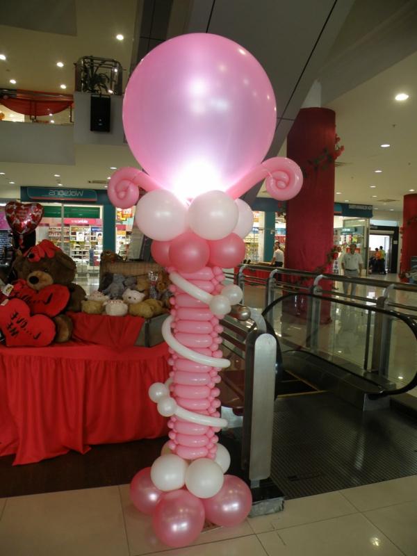 rosige-ballon-deko in pink