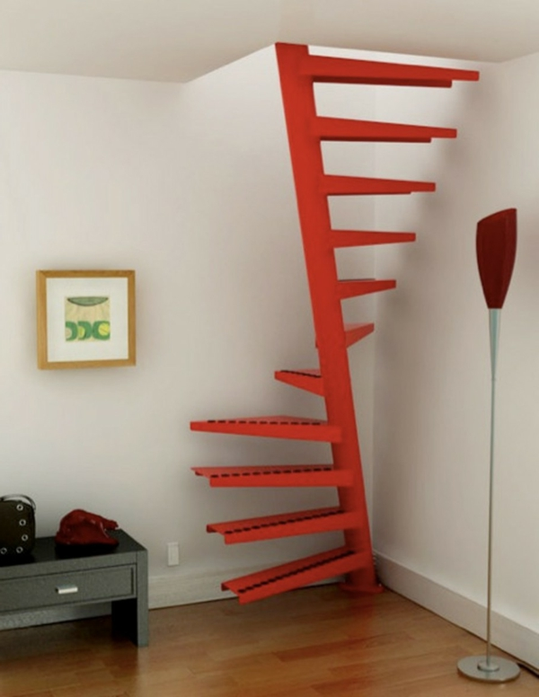Platzsparende treppen 32 innovative ideen for Ideas para hacer escaleras interiores