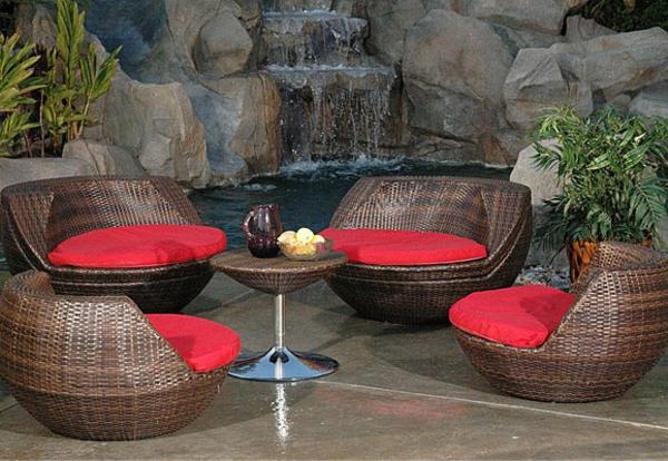 Bequeme Sitzkissen für Gartenstühle - Archzine.net