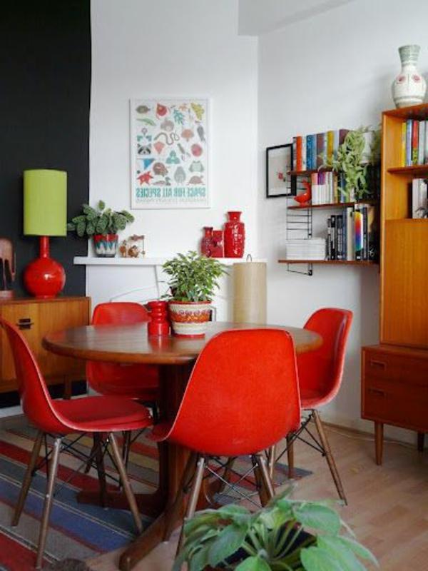 Rote Esszimmer Stuhle ~ Verschiedene Arten von Wohndesign und Möbeln