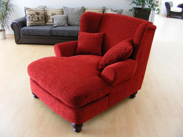 Moderne longchair sessel for Roter sessel