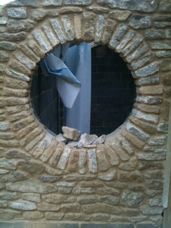 rundes fenster - aus stein