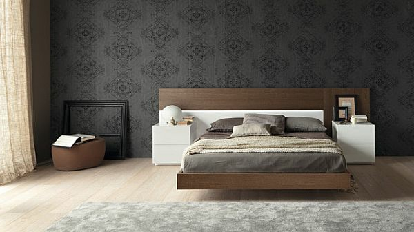 modernes designer doppelbett holz m belideen. Black Bedroom Furniture Sets. Home Design Ideas