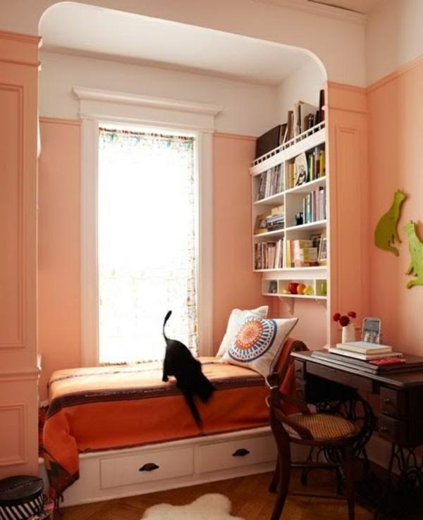 Wandfarbe apricot warm und gem tlich for Farben wohnung wirkung