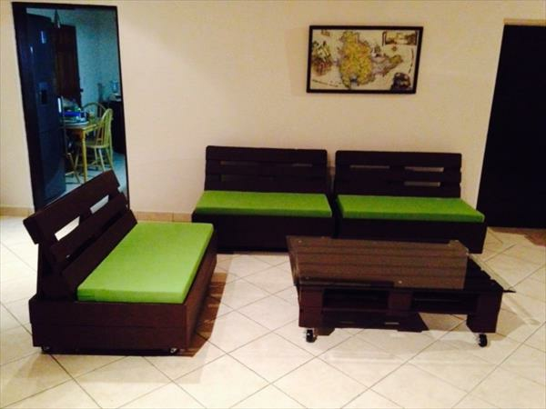 sofa aus paletten - 42 wunderschöne bilder! - archzine, Wohnzimmer