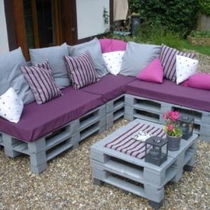 Sofa aus Paletten - 42 wunderschöne Bilder!