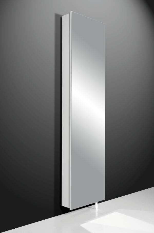 schuhschrank mit spiegelfront - an einer grauen wand