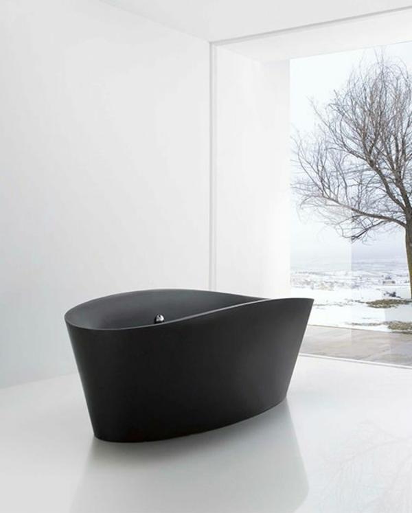 schwarze-wandfarbe-badezimmer-wanne-schwarz