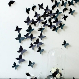 Einrichten mit Farben: Schwarze Wandfarbe und schwarze Möbel - doch existiert!