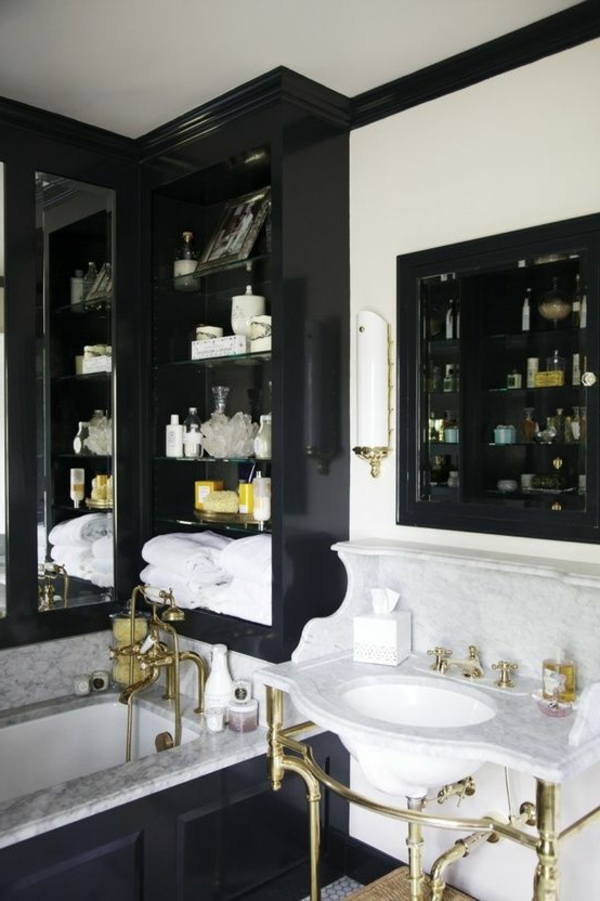Einrichten mit Farben: Schwarze Wandfarbe und schwarze Möbel ...