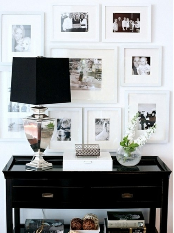 Schwarze Wandfarbe Wohnzimmer Mbel 2